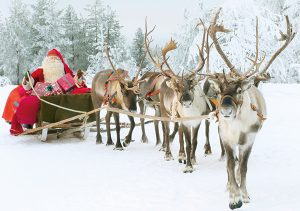 Santa Claus and Reindeer Santa Claus Office Arctic Circle Rovaniemi Lapland Finland