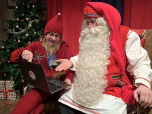 Santa with Computer