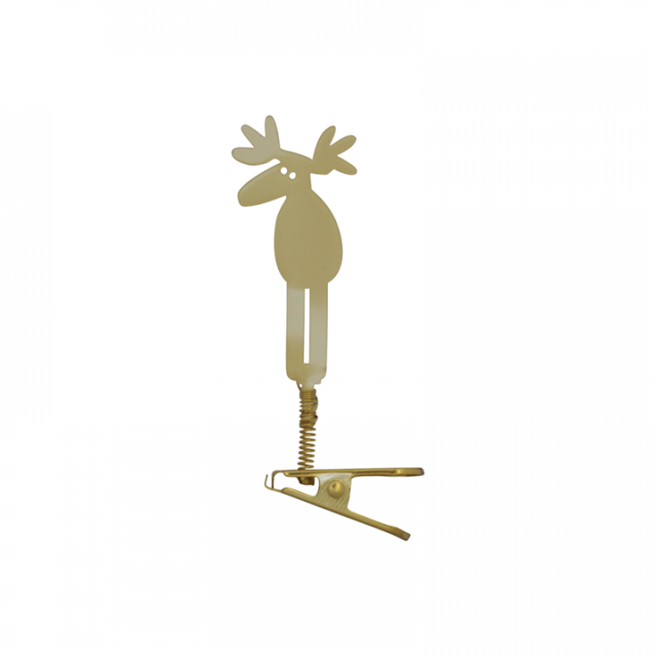 You can decorate your home with this cute moose clip deco. It is gold-coloured, the height is 8cm.