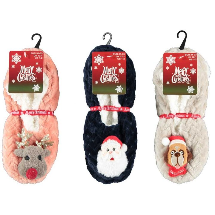 Children's soft ballerina christmas socks. All models; Reindeer, Santa, Dog.
