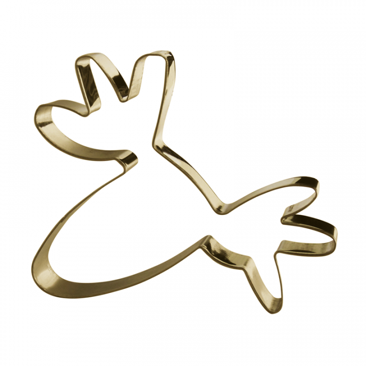 With this gold-coloured cookie cutter you can make fun, moose-shaped cookies. Size 10x10 cm.