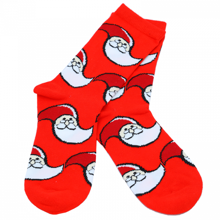 Santa Claus Office logo socks. Cotton + Polyester + Elastane. Perfect socks to keep your toes warm at Christmas! Or year-round. Nice gift idea! One size (36-41). Color: red.