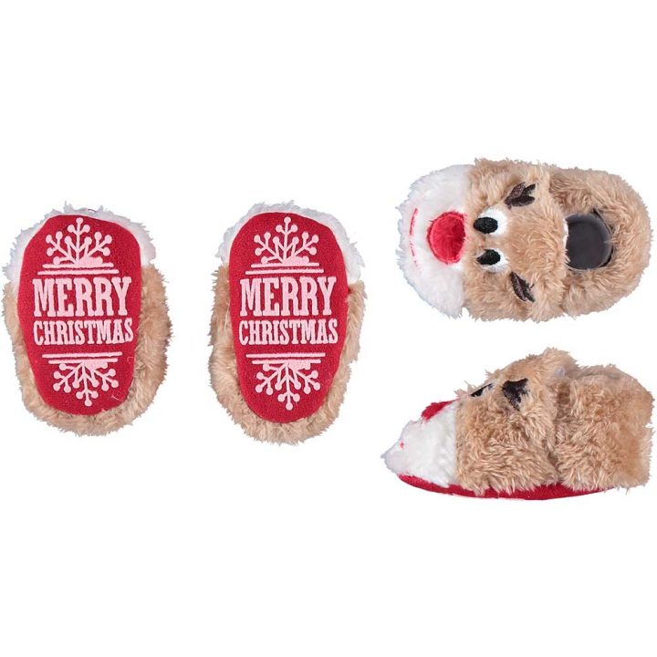 Cute soft christmas slippers for babies. Model: Reindeer.