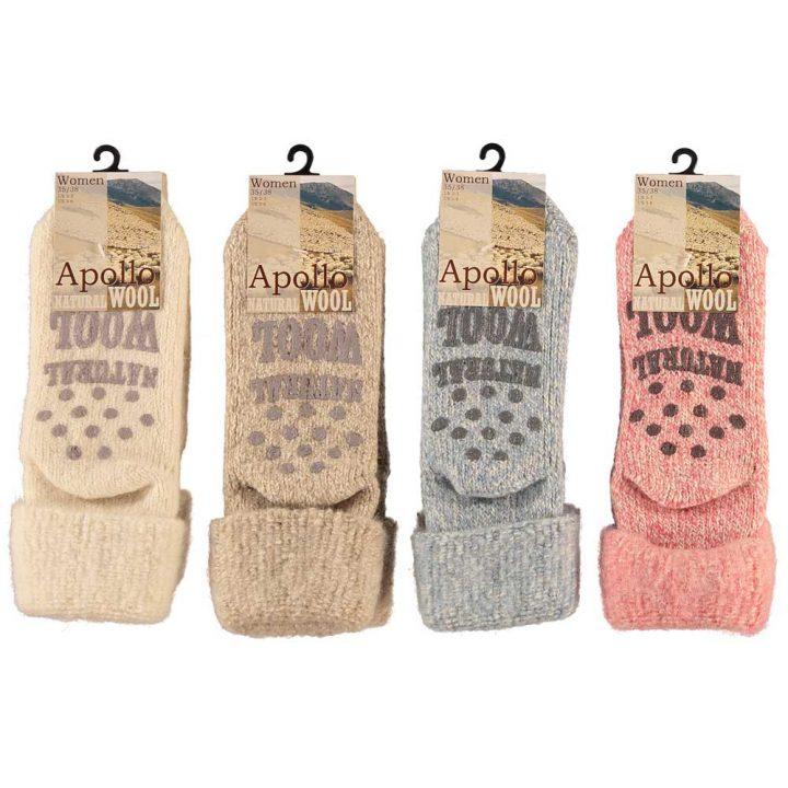 Ihanan lämpimät ja pehmeät sukat naisille. Mukavissa sukissa on luistamaton pohja, neljä eri värivaihtoehtoa ja kaksi kokovaihtoehtoa. Värit: Valkoinen, Beige, Sininen, Punainen.
