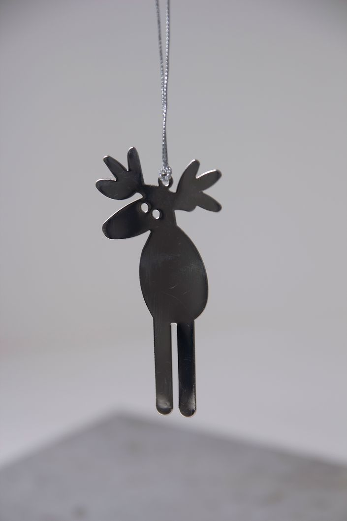 Tree Decoration, Metallic Moose.