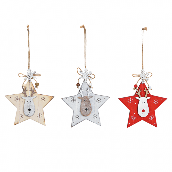 Tree Decoration, Star with Reindeer.