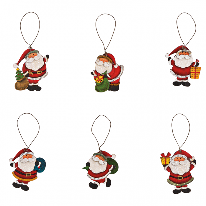Tree Decoration, Santa Assortment.