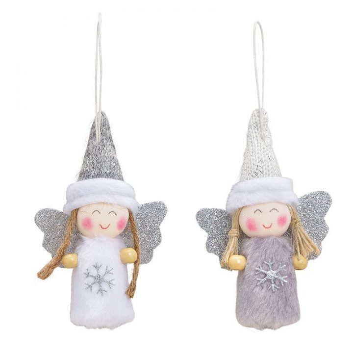 angel with glitter wings.