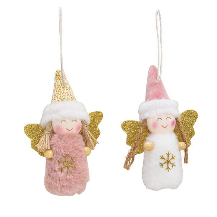 Tree Decoration, angel with glitter wings3.