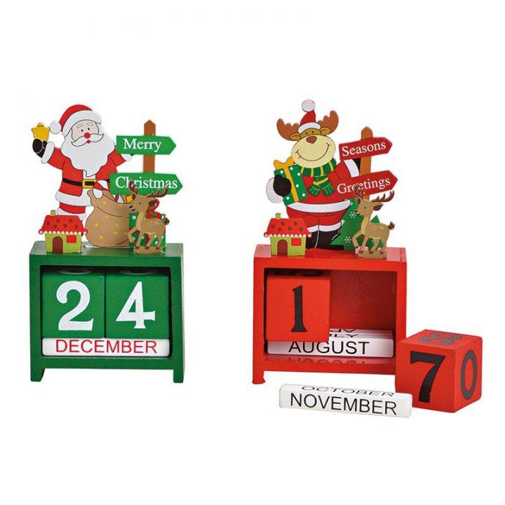 Table Calendar, Santa and Reindeer.