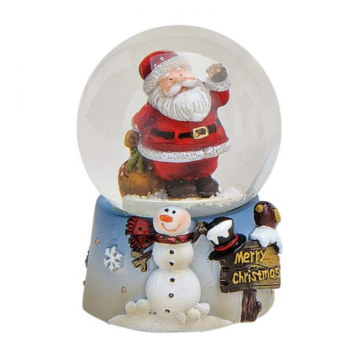 Santa and Snowman Snow Globe.