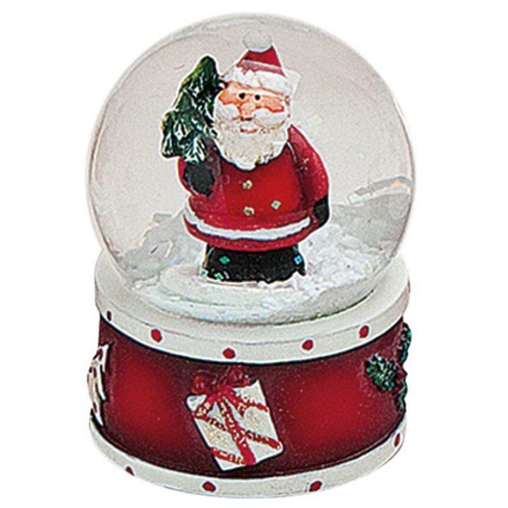 Mini Snow Globes, Santa and Tree.