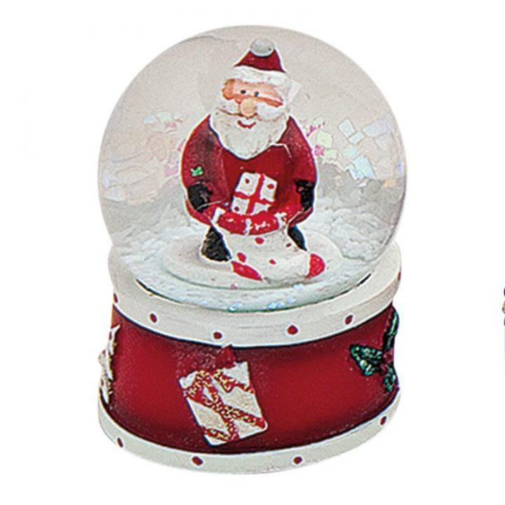 Mini Snow Globes, Santa.