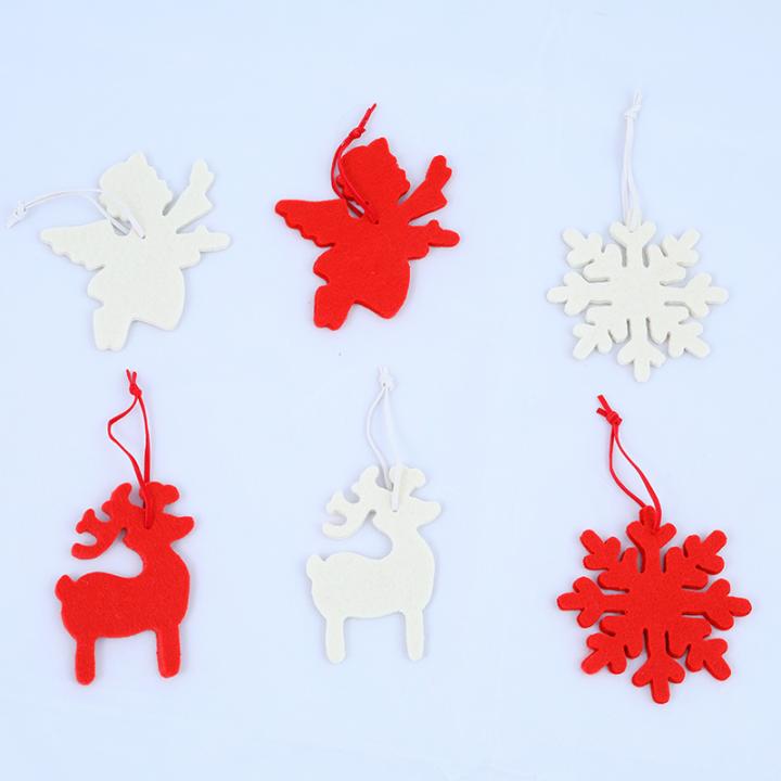 Tree Decoration, Felt Reindeer, Snowflake, Angel.