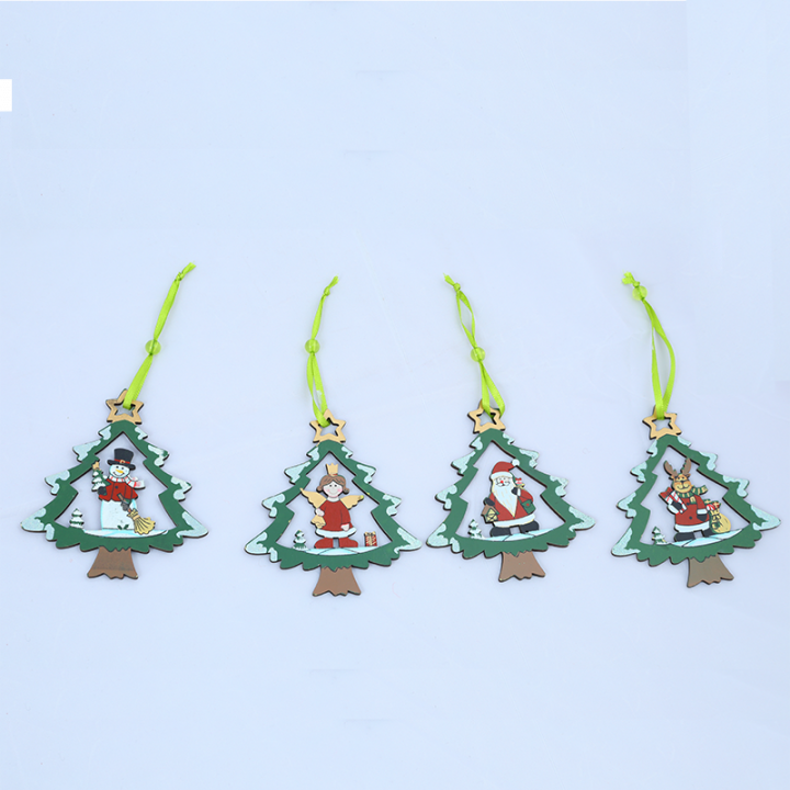 Tree Decoration, Wooden Reindeer, Santa, Angel, Snowman.