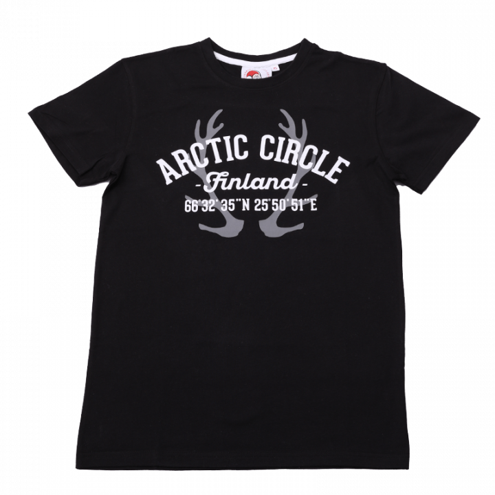 Arctic Circle T-shirt, black.