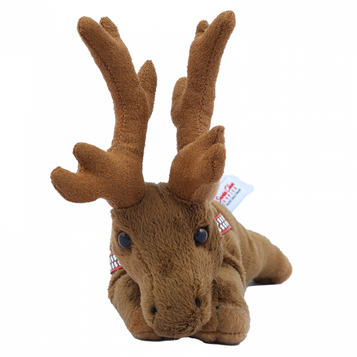 Reindeer Cuddly Toy from front.