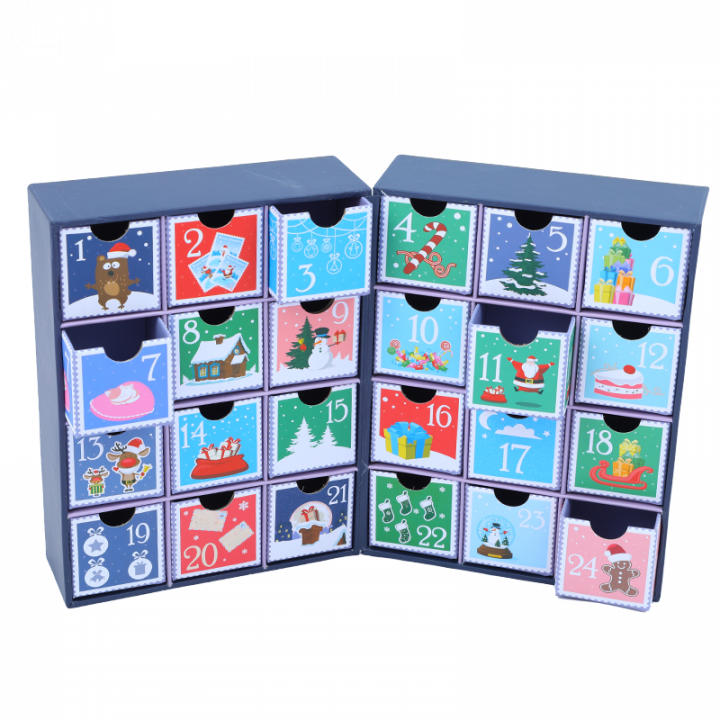Cardboard Advent Calendar, Stamps.