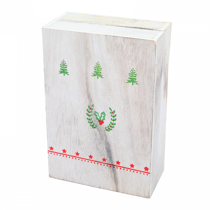 Wooden Advent Calendar, Santa.