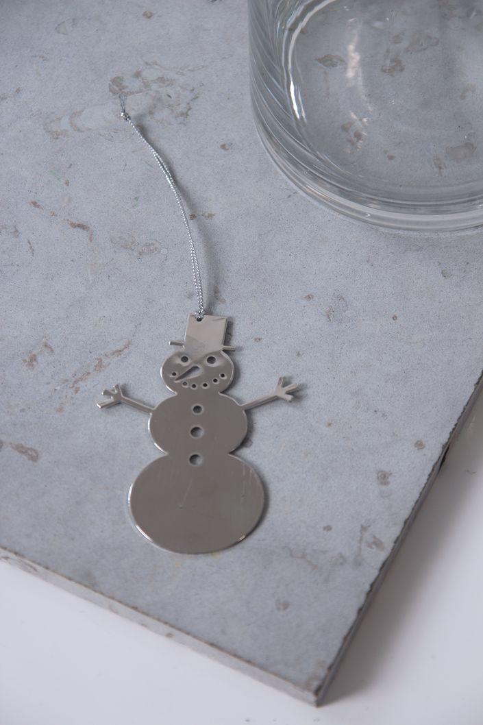 Tree Decoration, Metallic Snowman.